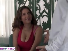 Magnificent big titted gets her shaved pussy slammed hard