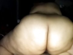 Plump Slut WIth An Enormous Butt Riding Her Lover