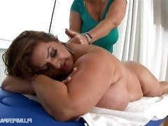 Busty BBW Pornstars Samantha 38G and Maria Moore in hot...