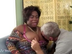 Black BBW Marliese Morgan Has a Thick White Cock Jammed...