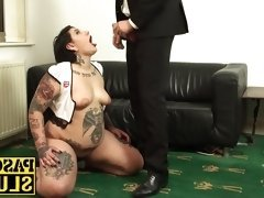 Lily Brutal getting her throat and cunt filled with a cock