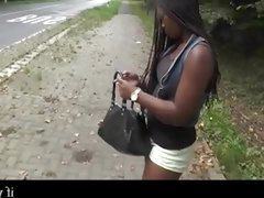 real slut black girl in the street