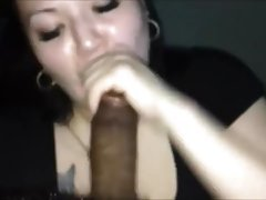 Chubby Wife Blowing A Black Shaft - POV Homemade