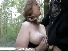 Big lady Sophia fucked in a forest