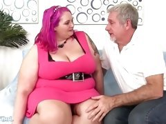 Big Boobed Plumper Sara Star Slams Her Pussy Down on a...