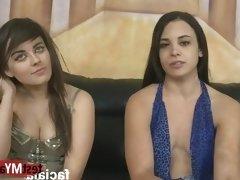Brunette pornstar rimjob and facial