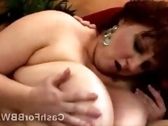 Big stacked BBW moans like a whore when pumped by huge dong