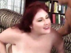 Bbw stockings bitch gets a cumshot