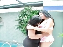 Sexy BBW lesbos licking hot assets