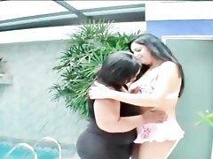 Sexy BBW lesbos licking hot assets