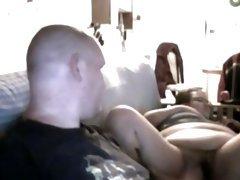 Chunky couple homemade webcam
