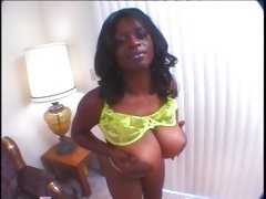 Ebony lesbian video with two BBW teasing assets