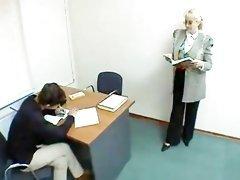 BBW teacher has a nasty teaching method
